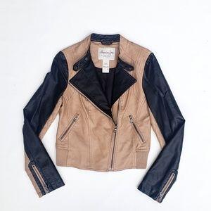American Rag Faux Leather Moto Biker Jacket  S